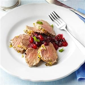 Pork Tenderloin with Cranberry-Pear Chutney Recipe
