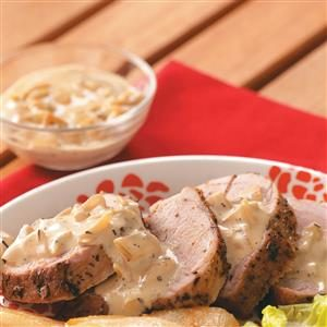 Pork Tenderloin with Pear Cream Sauce