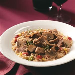 Portobello Beef Stew with Cranberry Pilaf Recipe