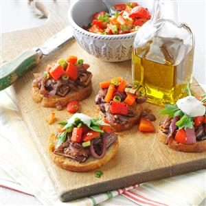 Portobello Bruschetta with Rosemary Aioli Recipe