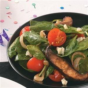 Portobello-Spinach Salad Recipe