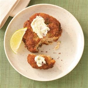 Potato-Crab Cakes with Lime Butter