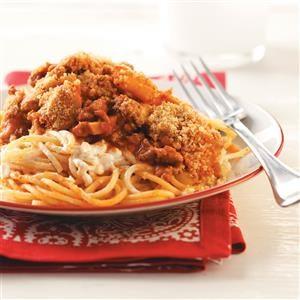 Potluck Baked Spaghetti Recipe