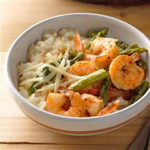 Pressure Cooker Risotto with Shrimp and Asparagus Recipe