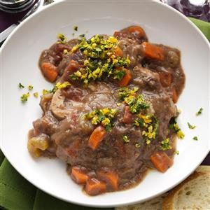 Pressure Cooker Beef Osso Bucco Recipe