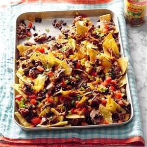 Pressure Cooker Hearty Pork & Black Bean Nachos Recipe