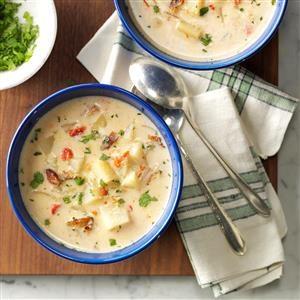 Pressure Cooker Potato Soup Recipe