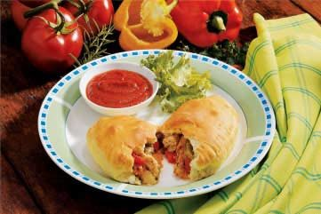 Sausage Pepper Calzones Recipe