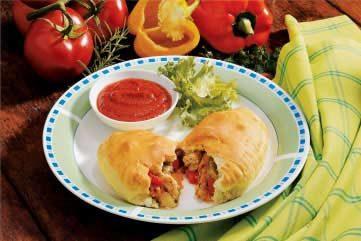 Sausage Pepper Calzones Recipe