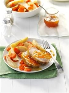 Apricot Pork Roast with Vegetables Recipe