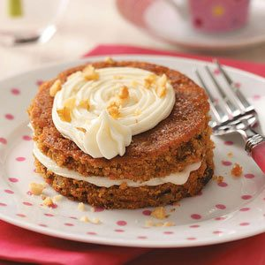 Mini Carrot Cake Tortes Recipe