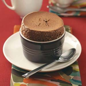 Chocolate Cayenne Souffles Recipe