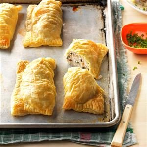 Puff Pastry Chicken Bundles Recipe