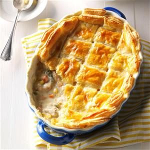 Puff Pastry Chicken Potpie Recipe