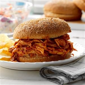 Pulled Chicken Sandwiches Recipe