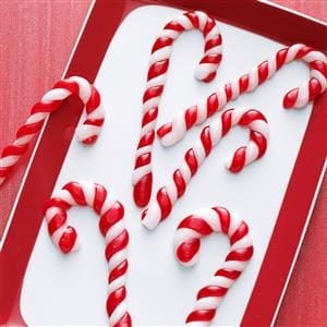 Pulled Taffy Candy Canes Recipe