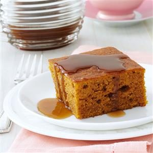 Pumpkin Cake with Caramel Sauce Recipe