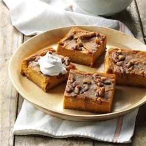 Pumpkin Pie Squares Recipe