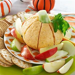 Pumpkin-Shaped Cheese Ball Recipe