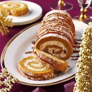 Pumpkin-Toffee Cake Roll Recipe