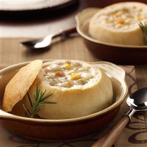 Quick Bread Bowls Recipe