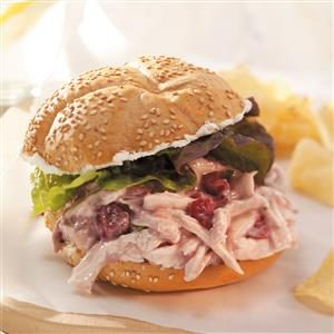 Quick Cranberry Chicken Salad Sandwiches Recipe