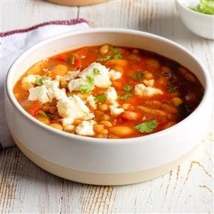 Quick Mexican Bean Soup Recipe