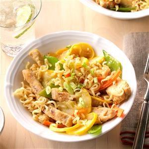 Quick Sesame Chicken Noodles Recipe