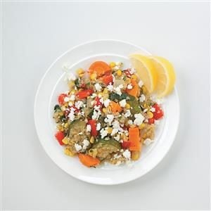 Quinoa with Roasted Veggies and Feta