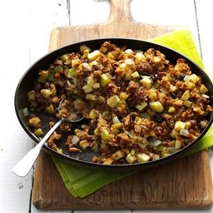 Raisin-Studded Apple Stuffing Recipe