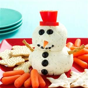 Ranch Spread Snowman Recipe