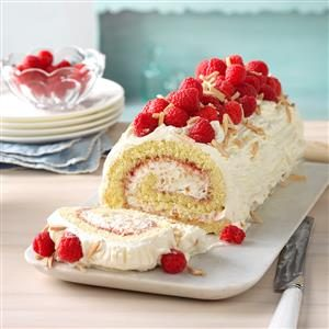 Raspberry-Almond Jelly Roll Recipe