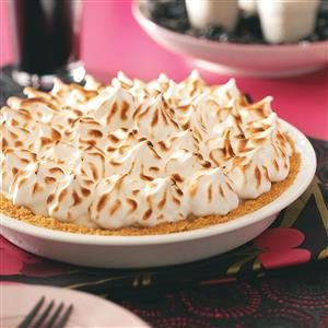 Raspberry Baked Alaska Pie Recipe