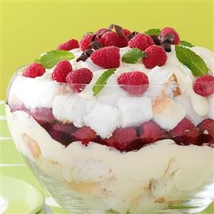 Raspberry Cream Trifle