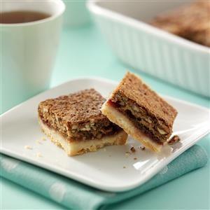 Raspberry Pecan Squares Recipe
