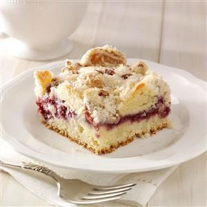 Raspberry Streusel Coffee Cake