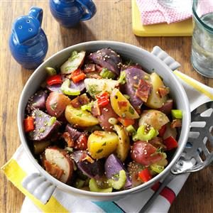 Red, White & Blue Potato Salad Recipe