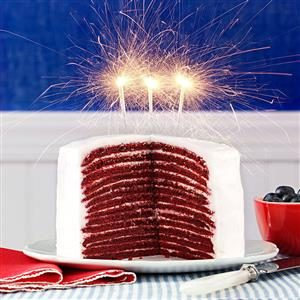 Red Velvet Crepe Cakes Recipe