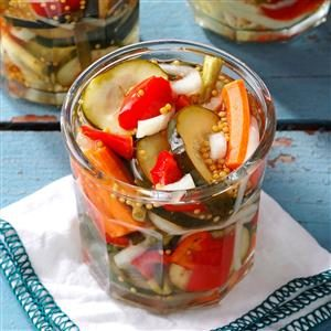 Refrigerator Garden Pickles Recipe