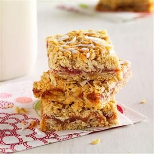 Rhubarb Oat Bars Recipe
