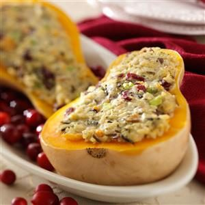 Rice-Stuffed Butternut Squash Recipe