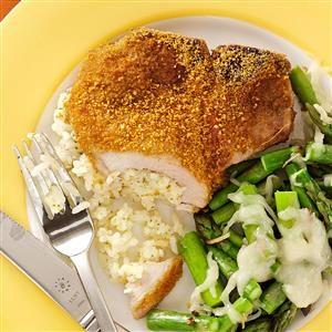 Rice-Stuffed Pork Chops Recipe