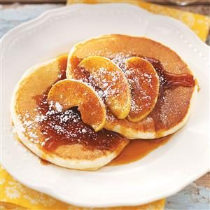 Ricotta Pancakes with Cinnamon Apples Recipe