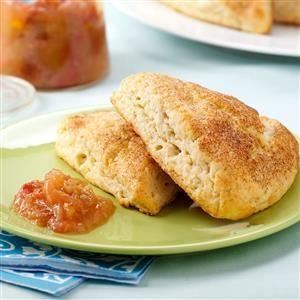 Ricotta Scones with Rhubarb-Orange Compote Recipe