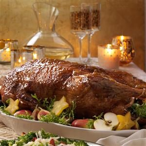 Roast Goose with Sweet Glaze Recipe