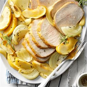 Roast Pork with Apples & Onions Recipe