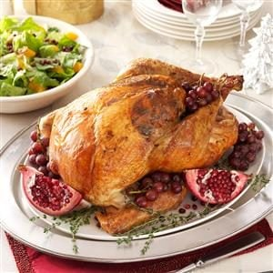Roast Turkey with Sausage-Cabbage Stuffing Recipe
