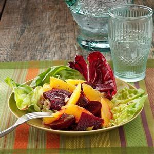 Roasted Beet-Orange Salad Recipe