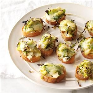 Roasted Brussels Sprouts & 3-Cheese Crostini Recipe