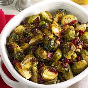 Roasted Brussels Sprouts with Cranberries Recipe